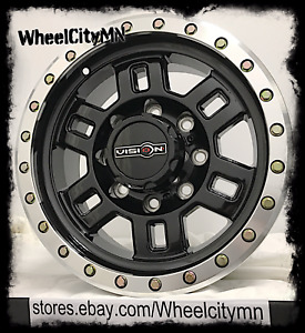 17 X8 5 Inch Gloss Black Vision 398 Manx Wheels Rims Dodge Ram 2500 3500 8x6 5