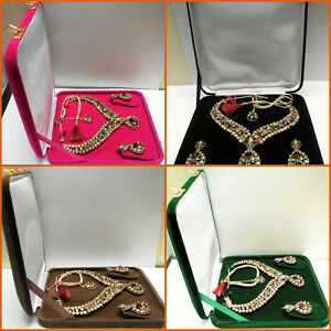 Deluxe Xl Large 8 Inch Jewelry Color Gift Box Plush Velvet Necklace Presentation