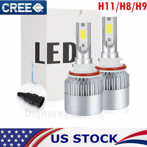 Cree Led Headlight Kit H11 H8 H9 1400w 210000lm 6000k High Beam Fog Bulb Hid Usa