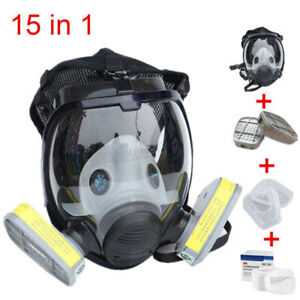 15 In 1 Full Face Gas Mask For 3m 6800 Facepiece Respirator Painting Spraying