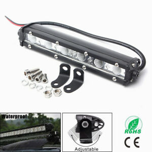 6inch 18w Single Row Led Work Light Bar Driving Lamp Fog Off Road Suv Boat Truck