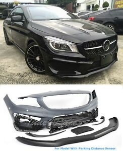 For 14 16 Mercedes Benz Cla 250 45 Front Bumper W Parking Sensors Amg Style Adn