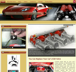 car Accessories Turnkey Website For Sale turnkeypages