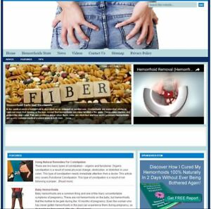 hemorrhoids Turnkey Niche Website For Sale turnkeypages