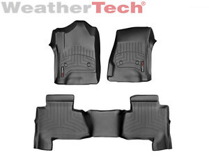 Weathertech Floor Mats Floorliner For Suburban yukon Xl 1st 2nd Row Black