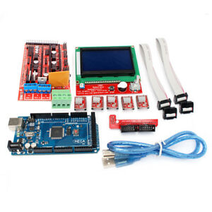 Blue Red Ramps 1 4 2560 R3 A4988 Lcd12864 3d Printer Controller Board Kit