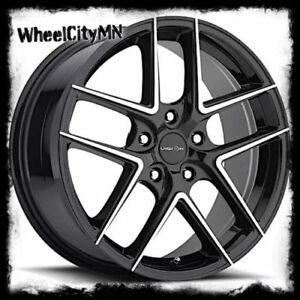 17 Inch Black Vision Mantis 467 Wheels Rims Fits Ford Fusion Focus Lincoln 5x108