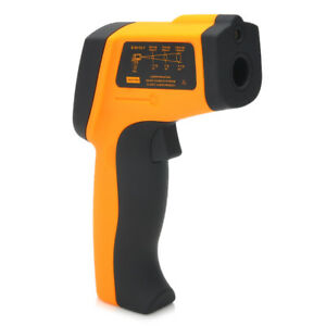 Yellow Handheld Digital Infrared Thermometer With 1 5 Lcd Display