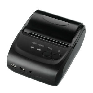 58mm Portable Thermal Receipt Bluetooth Wireless Printers For Android Ios Black