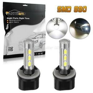 2pcs 880 892 893 899 6000k White 14 5730 Smd Led Bulbs Fog Light Driving Lamp