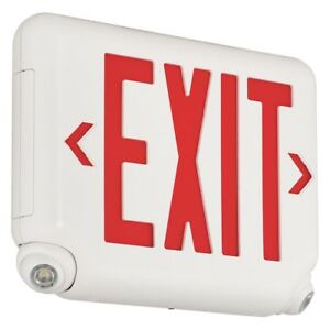 Hubbell Lighting Dual lite Exit Sign With Emergency Lights Evcurwdi