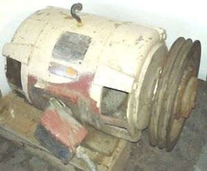 Westinghouse 7 5 Hp Motor 3 Phase 208 240 Vac With Pulley Works