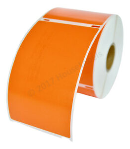 6 Rolls Of 300 Orange Shipping Labels For Dymo Labelwriters 30256