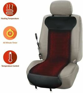 Zone Tech Heated Car Seat Cushion Steering Wheel Cover Polar Fleece Blanket Kit