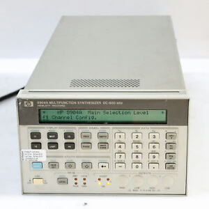 Hp agilent 8904a Dc 600khz Multifunction Synthesizer Generator Opt 001 002 004