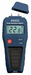 Reed R6018 Dual Moisture Meter Pin pinless For Wood And Building Materials