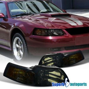 1999 2004 Ford Mustang V6 Gt Head Lights W corner Lamps Smoke