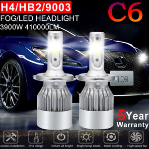 Cree Cob H4 Hb2 9003 1080w 162000lm Led Headlight Kit Hi Lo Power Bulbs 6000k Gg