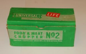 Universal Food And Meat Chopper No 2 Grinder Cast Iron W Box Works R16045
