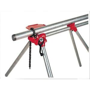 Handy Portable Top Screw Stand Pipe Chain Vise Home Worksite Plumbing