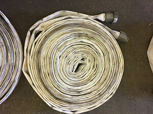 Lot Of 5 1 1 2 X 75 Lay flat White Mill Water Discharge Hose Assembly