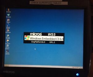 Micros Workstation 5 P n 400814 001e Pos Terminal Touch Screen Windows Embedded