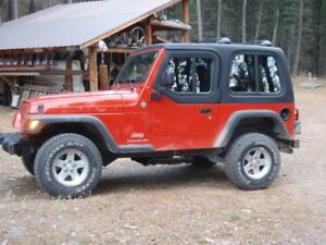1 Piece Removable Hardtop For Jeep Wrangler Tj With Half Door Insert 1997 2006