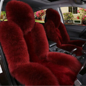 Premium Quality Australian Sheep Skin Car Long Wool Front Seat Cover Multi color
