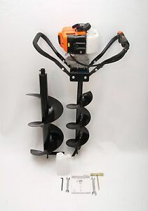 Hand held Post Hole Digger Earth Auger W 8 12 Bits 43cc 1 75hp Gas Engine