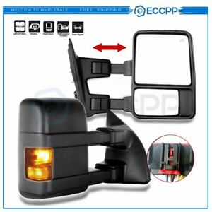 2008 2016 Ford F250 f550 Super Duty Side Mirrors Power Heated Signal Towing Pair