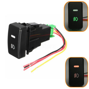 Black 5 Pin Car Push Button Fog Light Switch Control For Honda Civic Accord Crv