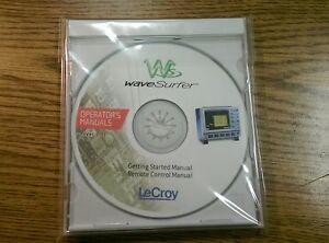 Lecroy Wavesurfer Operator s Getting Started Remote Control Manual Cd