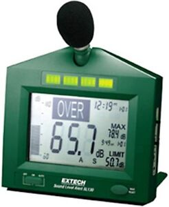 Extech Digital Sound Level Meter With Alarm Sl130g New