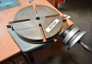 Bridgeport 12 Rotary Table With Right Angle Mount inv 37554