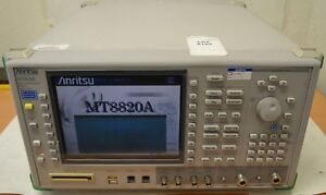 Anritsu Mt8820a Radio Communication Analyzer 30mhz 2 7ghz W Opt 01 02 11 12