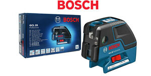 Bosch Gcl 25 5 point Self Leveling Alignment Laser Crossline 4 Mode 1 3lbs Fedex