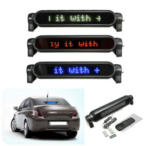 12v Car Auto Message Sign Scrolling Display Board Led Programmable W Remote New
