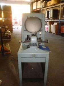 Covel Mfg Co Optical Comparator Model 14 Serial 14 558