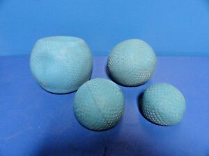 4 X Blue Weighted Physical Therapy Balls 1 5 2 5 4 1 8 9 Pounds 14298
