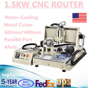 4axis 6040 Cnc Router Engraver 1 5kw Vfd Engraving Drill cutting Carving Machine