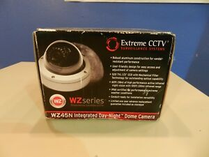 Extreme Cctv Surveillance System Wz45n Integrated Infrared Dome Camera New