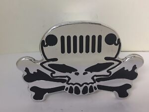 Hitch Cover Skull Jeep Grill