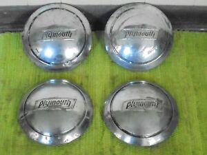 1936 Plymouth Dog Dish Hubcaps Set Of 4 Mopar Hub Caps 36