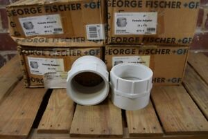 Lot Of 23 New George Fischer Pvc 4 Fem Pvc 4 Female Adapters 435 040