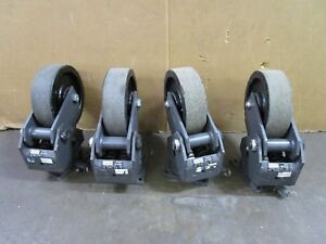 R t Laird C1296 l 2000lbs 10 Shock Absorbing Swivel Casters lot Of 4