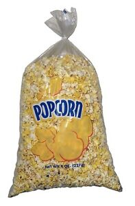 Gold Medal Plastic Popcorn Bags 8 Oz 500 Ct Free Shipping New Item