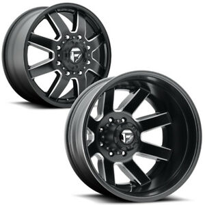 Set Of 6 Fuel D538 Maverick Dually 20x8 25 8x6 5 3 Gap Wheels Rims With Lugs