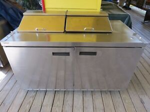 Delfield 4460n 12 60 2 Door Refrigerated Sandwich Prep Table
