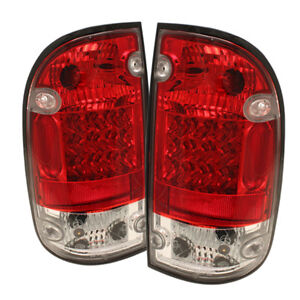 Toyota 95 00 Tacoma Red Clear Led Rear Tail Brake Lights Lamp Dlx Sr5 Pre Runner