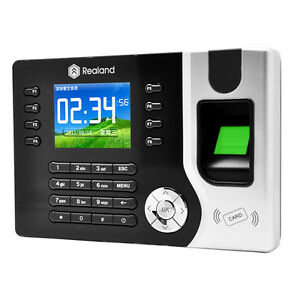 Attendance Time Realand Biometric Fingerprint Clock Id Card Reader Tcp ip Usb